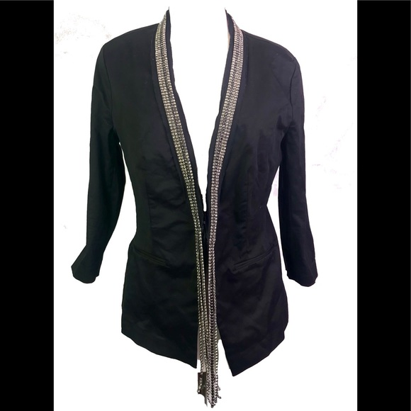 Rock & Republic Jackets & Blazers - Rock and republic jewel fringe jacket 12